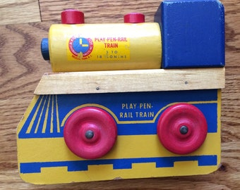 PlayPen Rail train, wooden train toy, locomotive, baby toy, Right Time toy