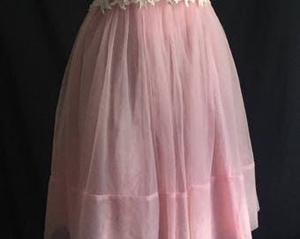 Vintage 1960's Handmade Pink Party Dress