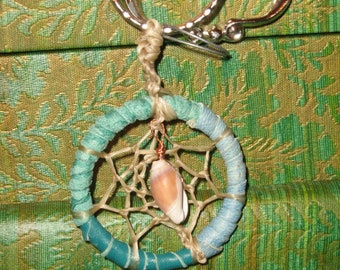 Dream Catcher Key Ring--Purse and Backpack Charm---or Fan Pull for Ceiling Fans
