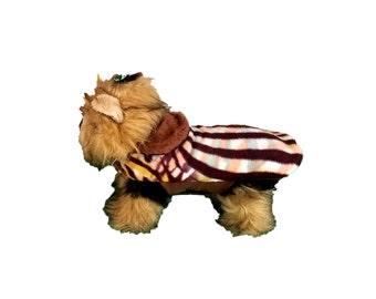 Dog Coat , Brown Zebra Fleece