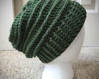 Pine Green Women's Men's Slouchy Winter Hat