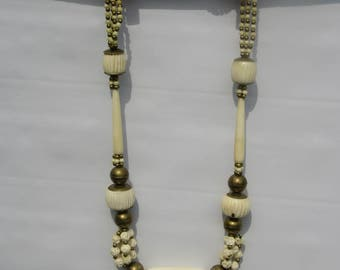 Bone and Brass Necklace