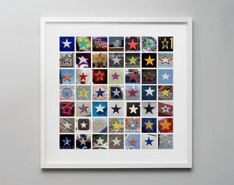 Stars. A photographic montage of found stars, a perfect gift for the star in your life