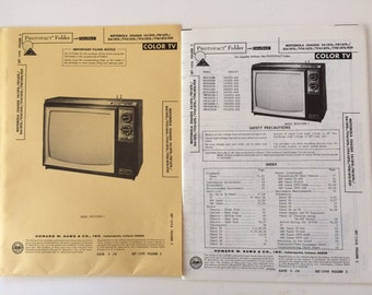 Vintage Photofact color TV Manual Motorola model WP5510KW-2 and many more