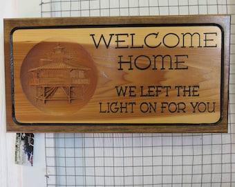 Wood art, Lighthouse, Welcome home sign, Coastal, Beach art.