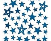 Bella Blvd - Dark Blue Puffy Star Stickers - 50 pieces - PFST1678