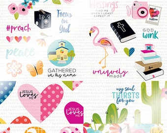 Illustrated Faith - Basics - Day to Day Clear Cuts 6x8 Pad - 12 Sheets - 1560