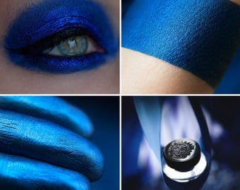 Eyeshadow: Fury - Undead. Electric blue metallic eyeshadow by SIGIL inspired.