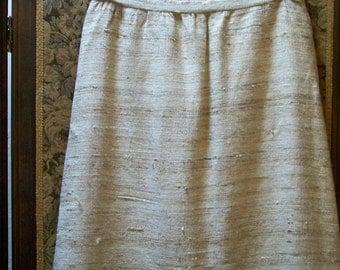 Nubby Texture Raw Silk Skirt - Red dirt Girl - 336