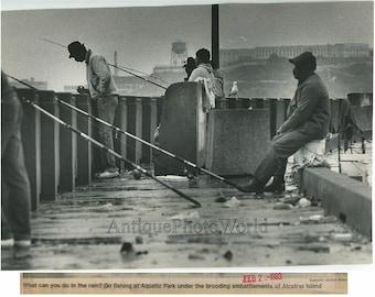 San Francisco fishermen Aquatic Park vintage art photo