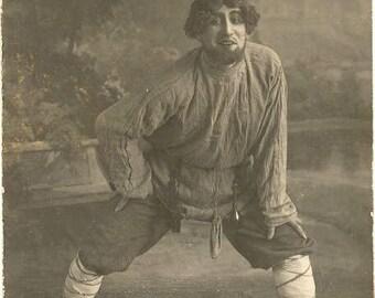 Russia actor in ethnic costume antique photo