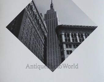 New York City Empire State Building vintage art photo by Albert Cottan