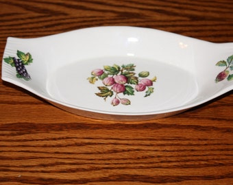 Vintage Egersund Gratin Dish with Berries Made in Norway