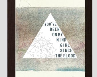 You've Been On My Mind Girl Triangle Art Print