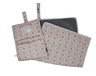 Alpaca Diaper Clutch & Travel Diaper Changing Pad Baby Go Set by Rilos + MiMi