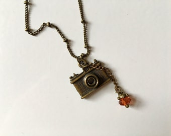 Vintage 35mm Camera Charm Necklace