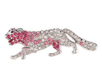 Jackie Kennedy Panther Brooch with Crystals, Box and COA