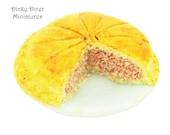 Corned Beef and Potato Plate Pie (Pre-sliced) - Miniature 1:12 Scale Food