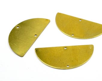 5 Pcs. Raw Brass 20x40 mm (0.80 mm Thick , 20 Gauge ) Semi 2 Hole Blanks