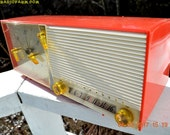 SALMON Pink Retro Jetsons Vintage 1957 Westinghouse H-645T6 AM Tube Radio Works!