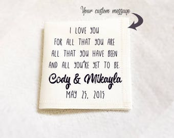 Handkerchief for groom, personalized linen handkerchief, custom wedding handkerchief, gift for him, gift for husband, personalized hankie