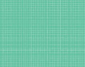 light green, turquoise grid , crib sheet,