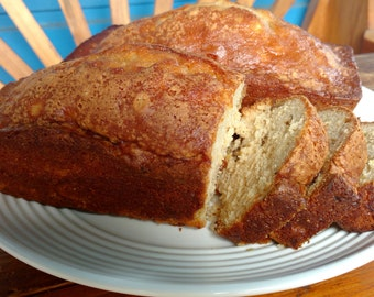 Pineapple  bread, 2 loaves, with or without nuts, made to order, homestyle, sweet bread, coffee cake