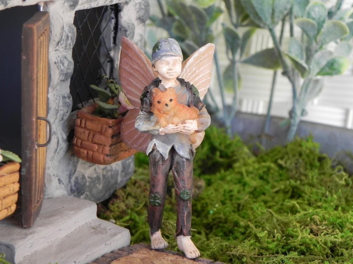 Miniature boy fairy for fairy garden fairy shawn fairy for Irish fairy garden