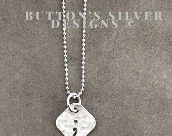 Semicolon Necklace