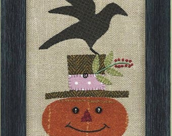 Primitive Wool Applique Pattern - Happy Jack