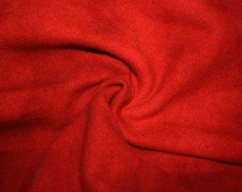 "Fat Eighth - Wool Fabric - Hand Dyed - Vintage Red Solid #16 - 100% Wool - 16"" x 12"""