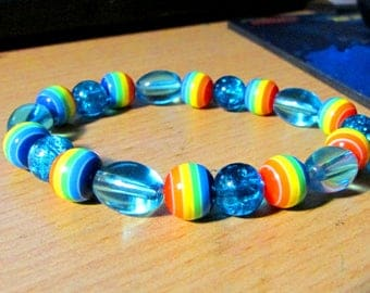 Rainbow Dash Themed Beaded Bracelet