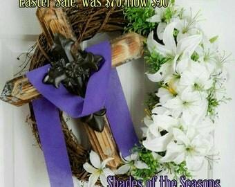 Easter Wreath, Grapevine Wreath, Cross Wreath, Lent Wreath, Easter, Cross, Easter Cross, Lent