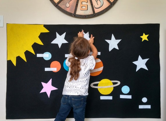 Pattern For Outer Space Montessori Wall Activity. Toddler Gift