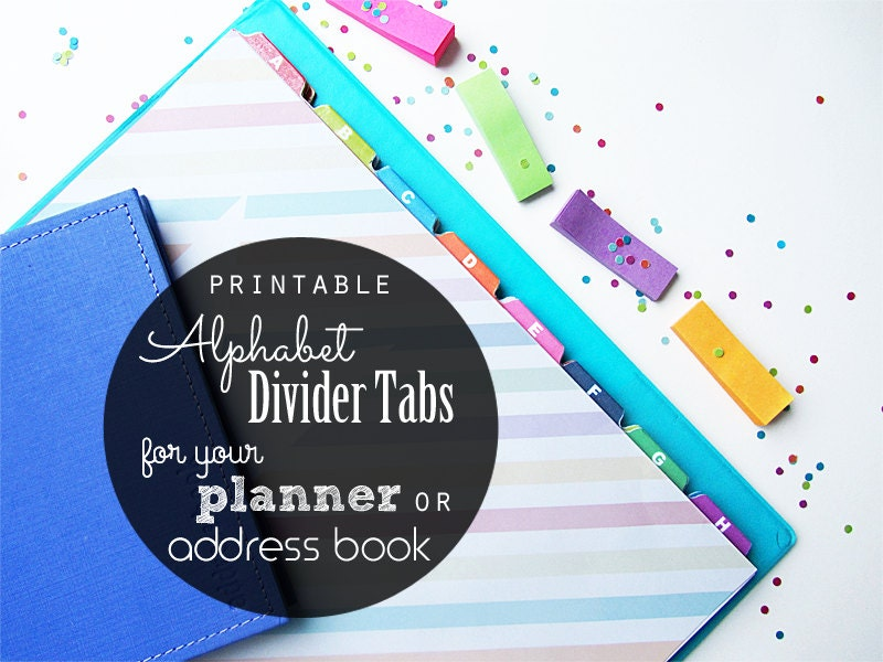 50  off printable alphabet divider tabs for address book or