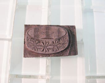 Wedding Ring Printing Stamp Metal Letterpress - 1960s Advertising Metal Stamp