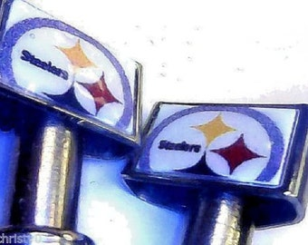 2-Steelers Quality Stainless Steel USA Cribbage Board Pegs W/ Black Velvet Pouch
