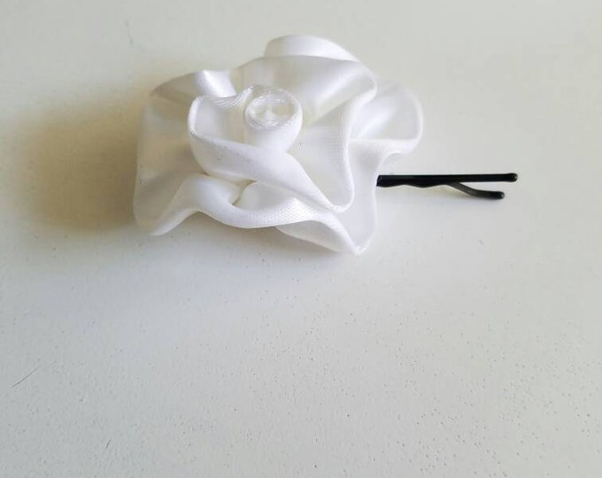 White Rose Bobby pin