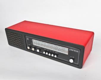 Vintage Tube Radio Iskra Planica / Mp3, Ipod Compatible / 5 Pin Din Plug To 3.5mm Jack Plug Audio Cable / Red / 70s Yugoslavia