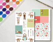Sloth Planner Sticker She...