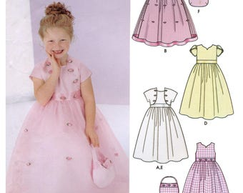 Girls' Special Occasion Dress, Jacket and Purse sizes 5-8 Simplicity Sewing Pattern 5638