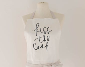 Apron, Kiss the Cook, present, housewarming gift, kitchen decor