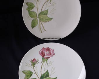 Knowles Tea Rose Dinner plate PAIR