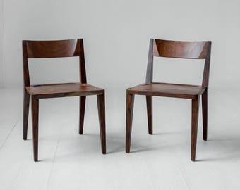 Oslo Oregon walnut dining chair