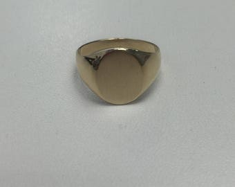 Yellow Gold Signet Ring, 14Kt Gold