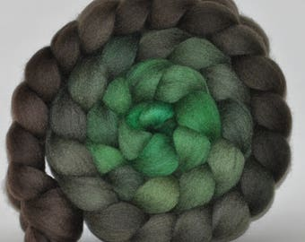 Blue Face Leicester   Hand Painted Roving  5.01 ounces - The Language of Trees   combed top