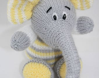 Toy knitted elephant. Baby toy elephant. Knitted toy. Nursery accessories photo prop home decor nursery decoration baby shower gifts