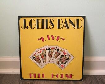 "J. Geils Band ""Live Full House"" vinyl record"