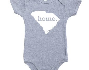 Homeland Tees South Carolina Home Unisex Baby Bodysuit