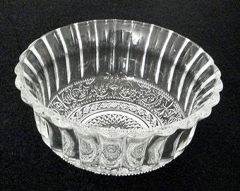 Cut Glass Dessert Bowls Set of 12 Geometric Pattern Vintage